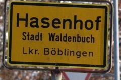 Ortsschild Hasenhof