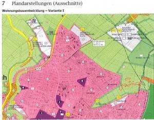 Variante 1 der städtischen Planungen